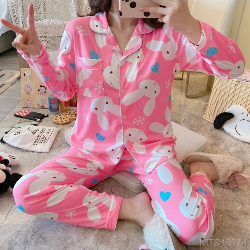 2020 new long-sleeved pajamas home service suit pajamas/home service cover