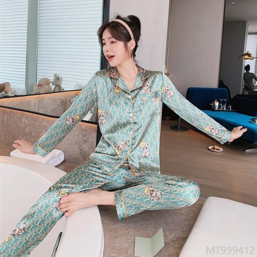 2020 new student pajamas cartoon simple casual printing silk home