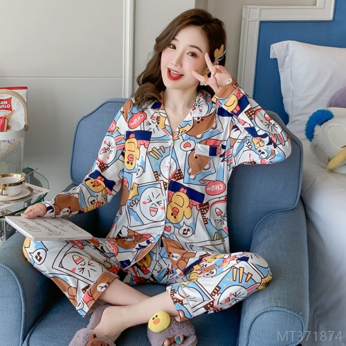 2020 new cartoon simple casual printing silk home