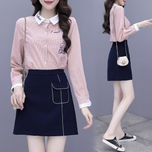 2020 new fashion net red shirt skirt two-piece skirt fashion