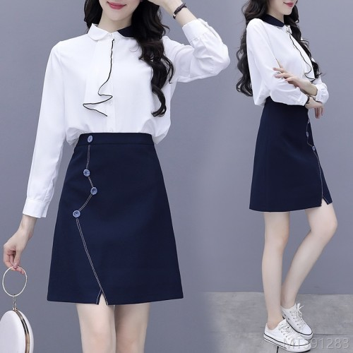 2020 new new autumn suit fashion professional wear temperament goddess fan skirt early autumn two-piece fashion