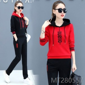 2020 new cotton sportswear suit ladies fashion hooded sweater