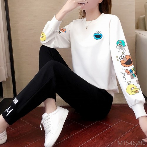 2020 new fashion casual sports suit t-shirt trousers two-piece suit