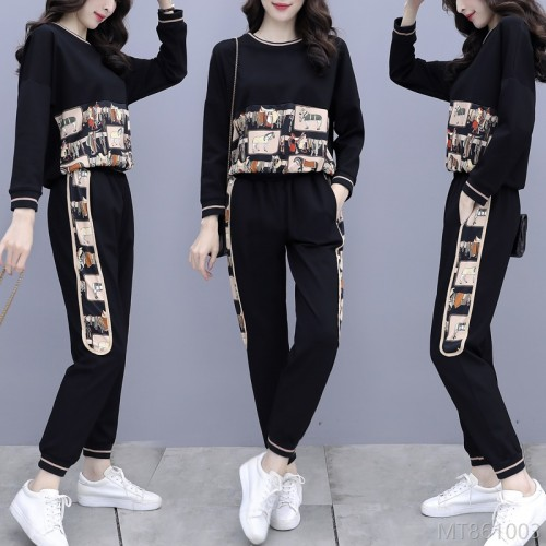 2020 new spring and autumn fashion Korean version loose fashion printing flow