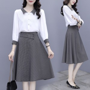 2020 new temperament goddess Fan Qingshu wind French slim skirt