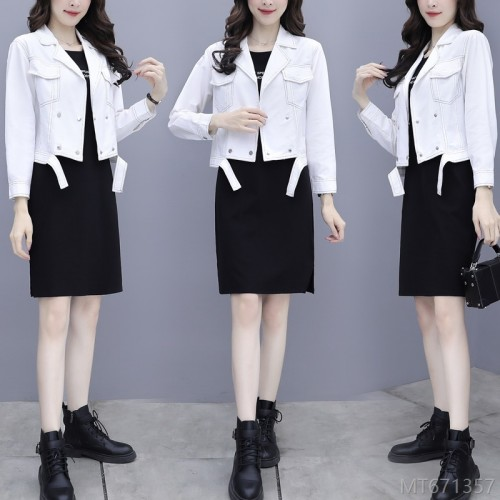 2020 new fashion slim coat and dress two-piece suit