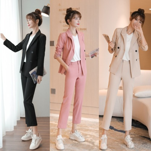 2020 new net red suit suit female temperament Korean version capable OL interview