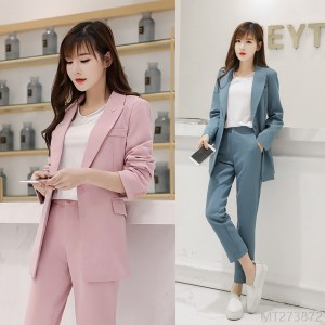 2020 new casual women's suit suit + nine-point pants try two-piece suit