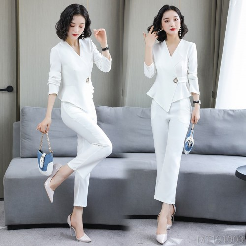 2020 new fashion small suit professional two-piece trousers