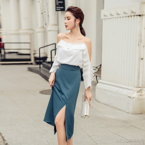 2020 new high waist split hip suit fashion suit
