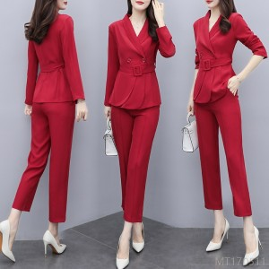 2020 new fashion professional suit women's nine-point pants suit Hong Kong style two-piece suit