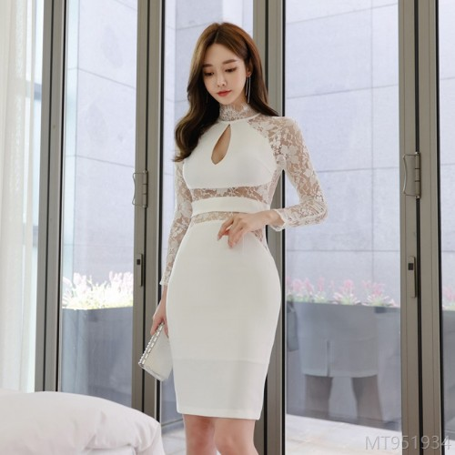2020 new sexy ladies halterneck dress with waist split and hips