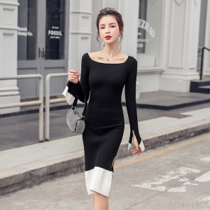 2020 new sexy waist dress sweater skirt long skirt