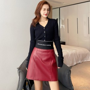 2020 new high waist slimming net red a-line one-step skirt skirt