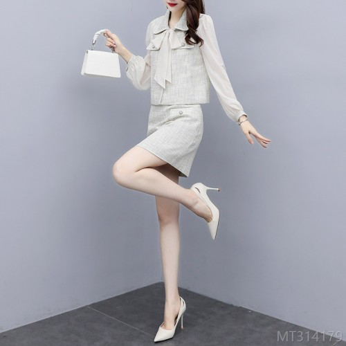 2020 new slim fashion skirt two-piece fashion suit