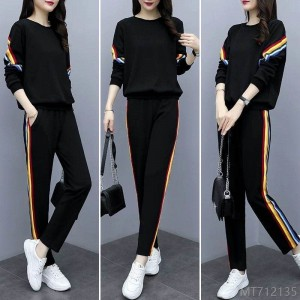 2020 new fashion trend cover belly look thin western leisure sports suit