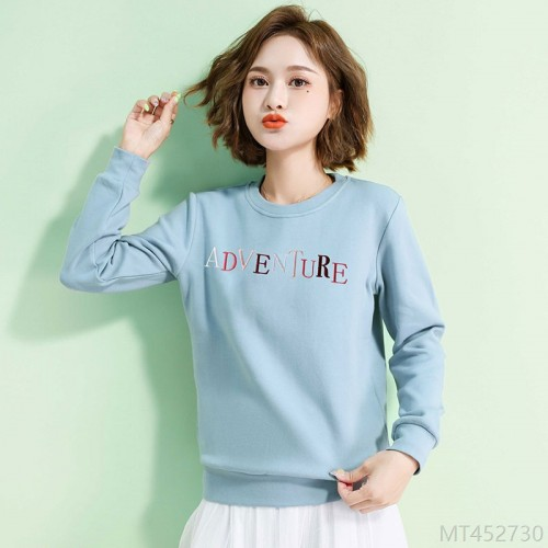 2020 new mid-length blue Korean t-shirt top ins trend