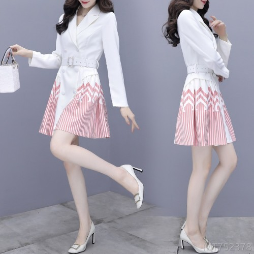 2020 new niche suit skirt goddess fan temperament dress