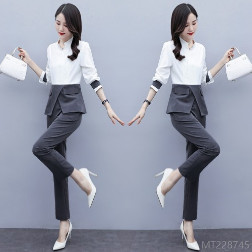 2020 new fashion goddess fan shirt stitching small suit pants