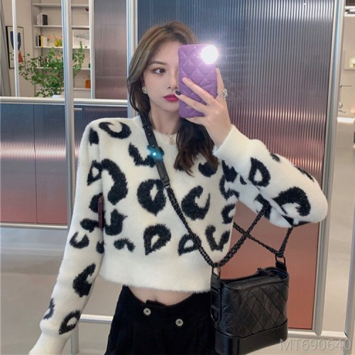 2020 new loose pullover outer wear imitation mink fur coat long sleeves
