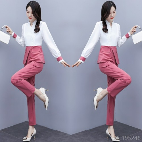 2020 new professional wear two-piece female slim slimming base suit