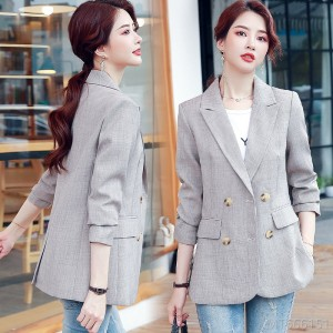 2020 new casual spring and autumn retro net red suit jacket