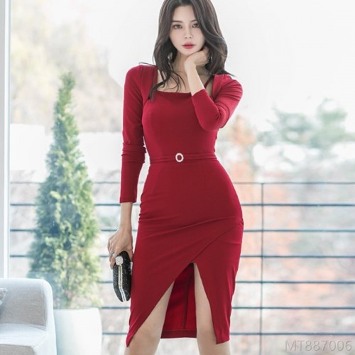 2020 new sexy aura queen ladies dress sling pure color