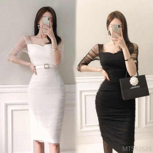 2020 new slim casual slim bag hip dress