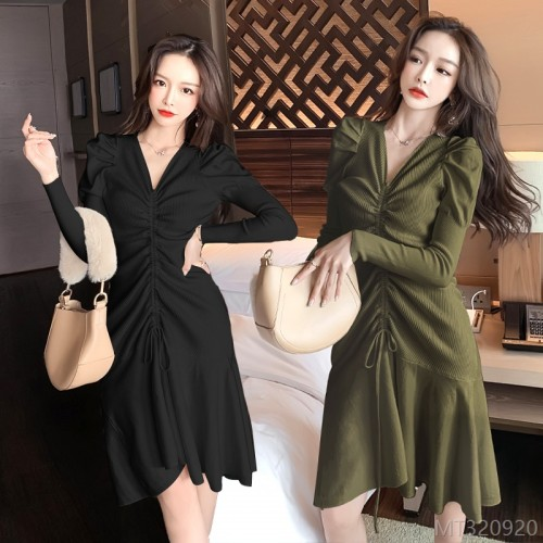 2020 new warm knitted sweater dress women long sleeves