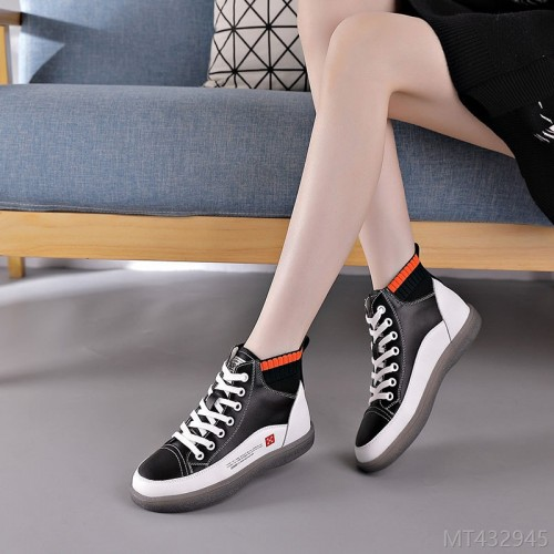 2020 new line mouth beef tendon soft sole Korean flat women's shoes