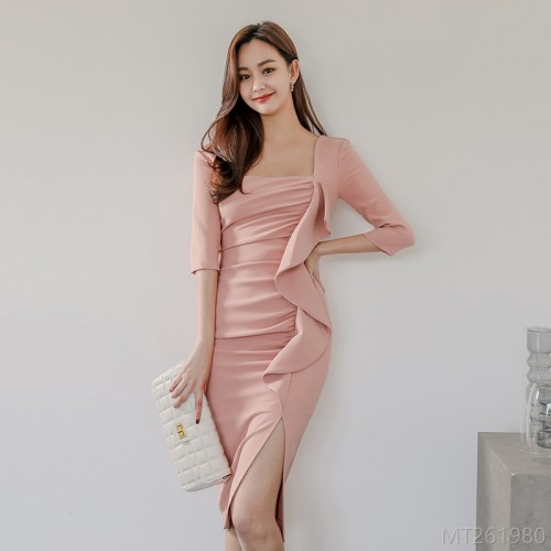 2020 new sexy bag hip dress one-piece zipper
