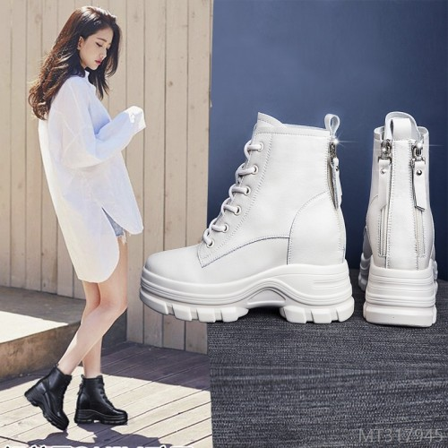 2020 new thick-soled increased Korean casual women's short boots fashion boots