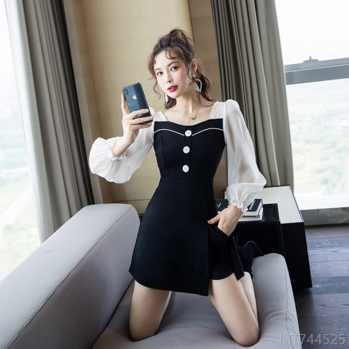 2020 new splicing dress suit two-piece fashion suit