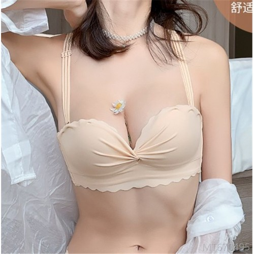 2020 new non-marking underwear women's small breasts gather and close the breasts to prevent sagging student bra adjustment type without steel ring upper