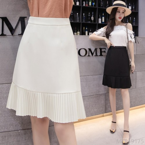2020 new all-match autumn fashion a-line skirt Korean chiffon skirt mid skirt