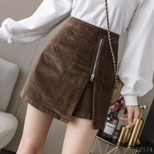 2020 new arrivals all-match corduroy skirt women's fashion high waist