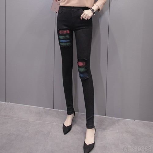 2020 new new fashion autumn and winter trend high waist casual black leggings outer wear thin pencil feet