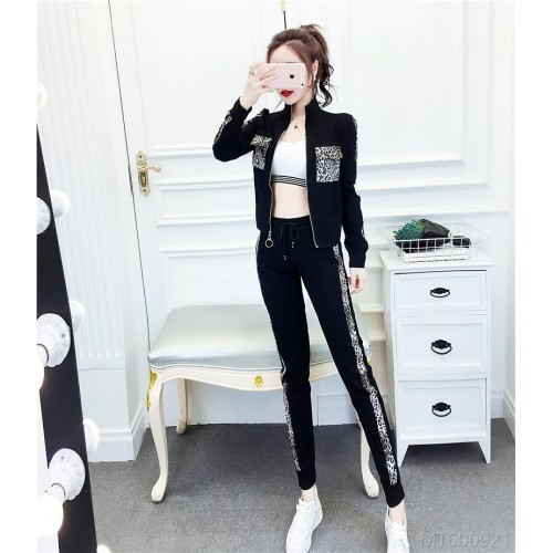 2020 new all-match sports top net red casual trousers two-piece suit