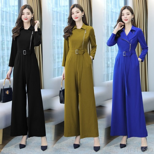 2020 new temperament jumpsuit long sleeve fashion suit