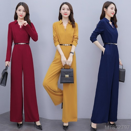 2020 new all-match autumn fashion high waist drape wide leg pants temperament