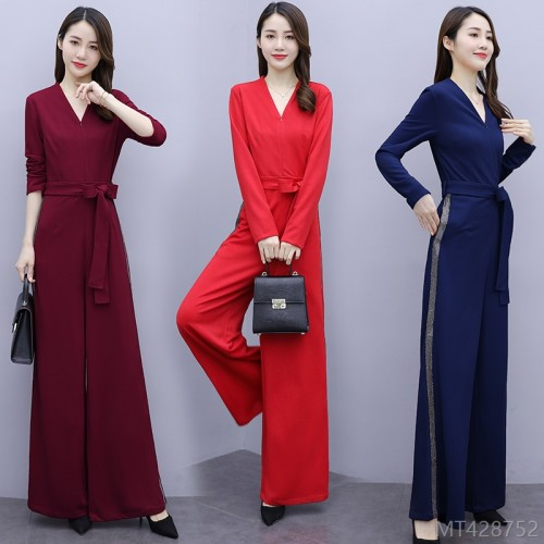2020 new high waist wide leg loose jumpsuit jumpsuit/pants