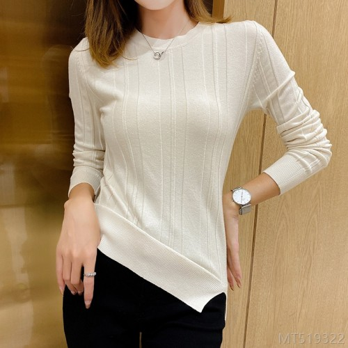 2020 new sweater women's bottoming shirt women autumn women's clothing autumn fashion split ends