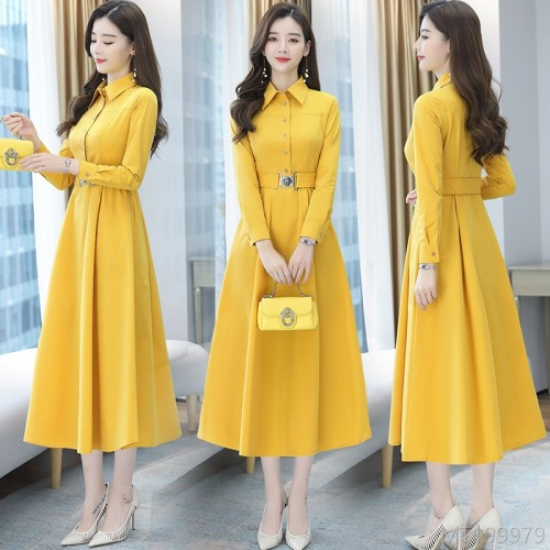 2020 new wild spot autumn fashion Korean version waist mid-length