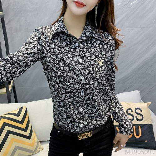 2020 new wild# spring and autumn fashion fashion floral shirt