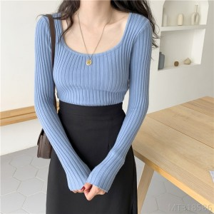 2020 new Korean version of the bottoming shirt slim fit women with knitted tops