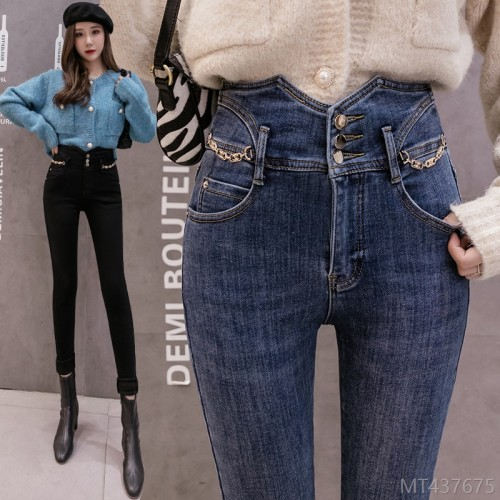 2020 new fashion slim slimming plus thin velvet high waist stretch pants