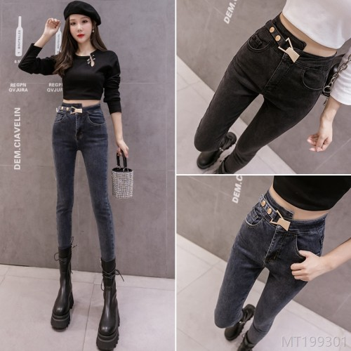 2020 new autumn and winter jeans pencil pants