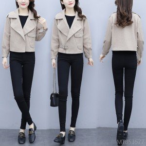 2020 new all-match suit woolen coat short section was thinner and reduced age