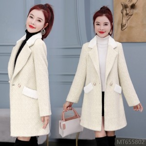 2020 new fashion autumn and winter outfit all-match imitation mink coat Ni