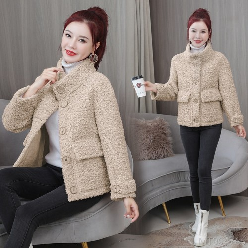 2020 new lamb fur coat and fur one-piece plush granular velvet